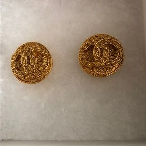 Authentic Chanel Gold Earrings